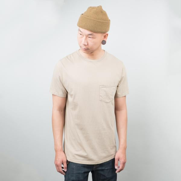 Lone Flag - Basic Pocket Curved Hem Dune