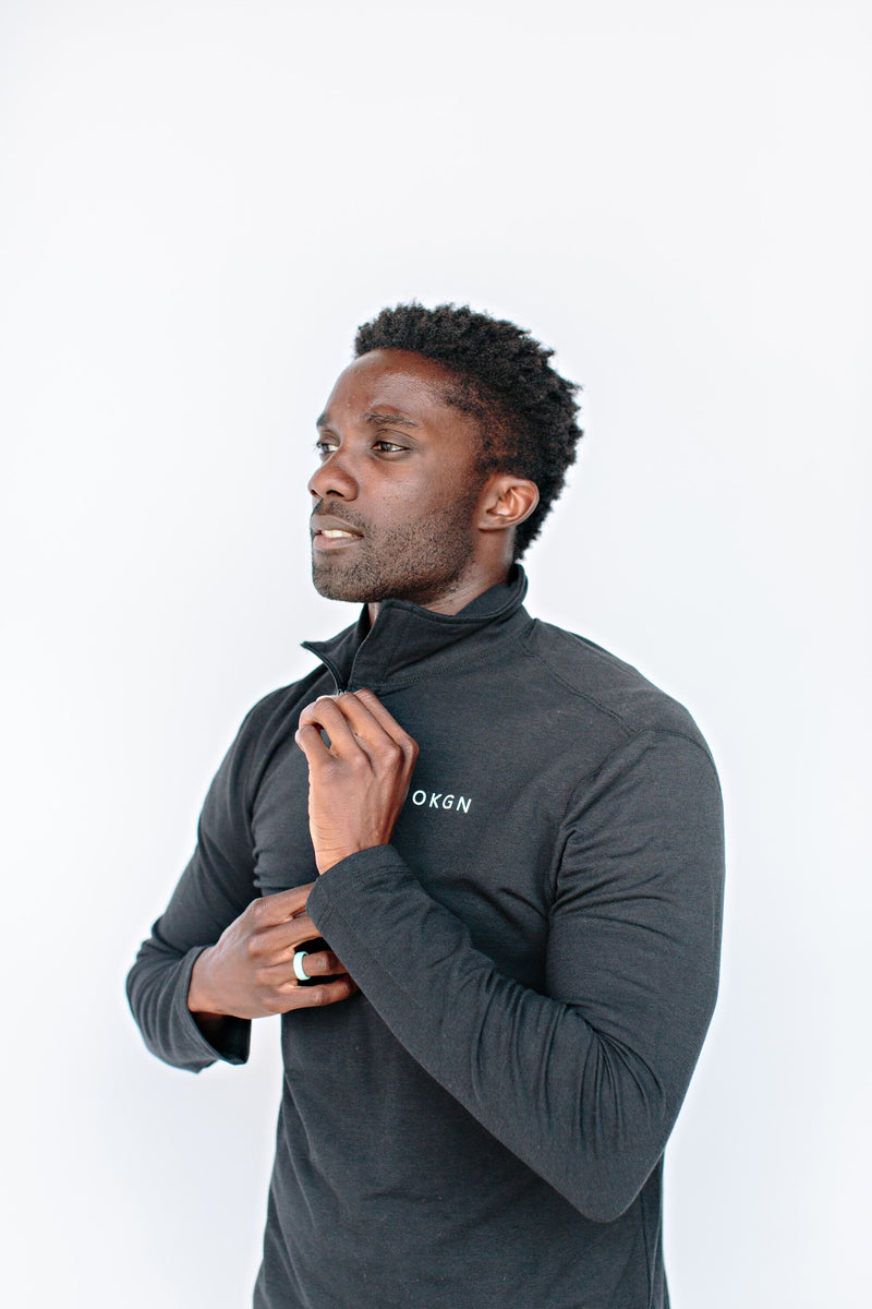 1/4 Zip Bamboo Long Sleeve