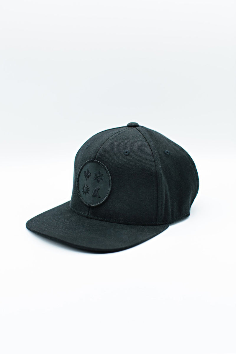 4 Icon Blackout Snapback