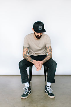 The 'Minimalist'  Black Snapback
