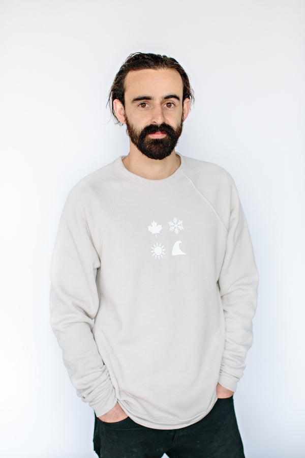 Neutral '4 Icon' Crewneck