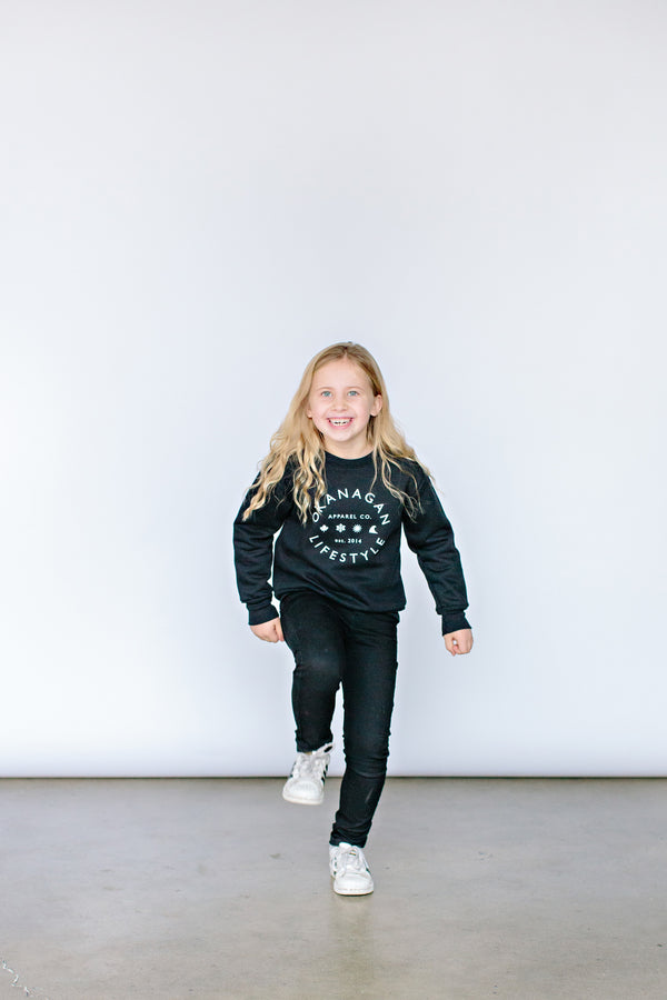 'Classic' Black Toddler/Youth Crewneck