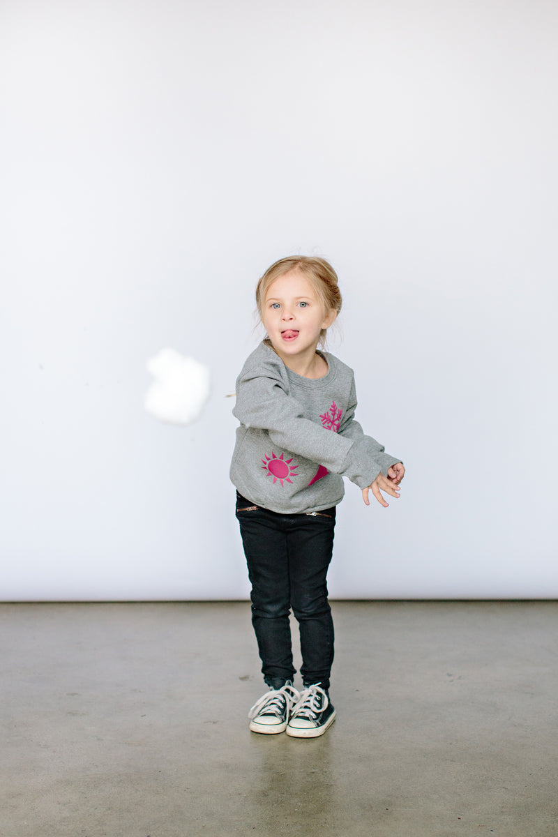 Toddler/Youth '4 Icon' Puff Crewneck