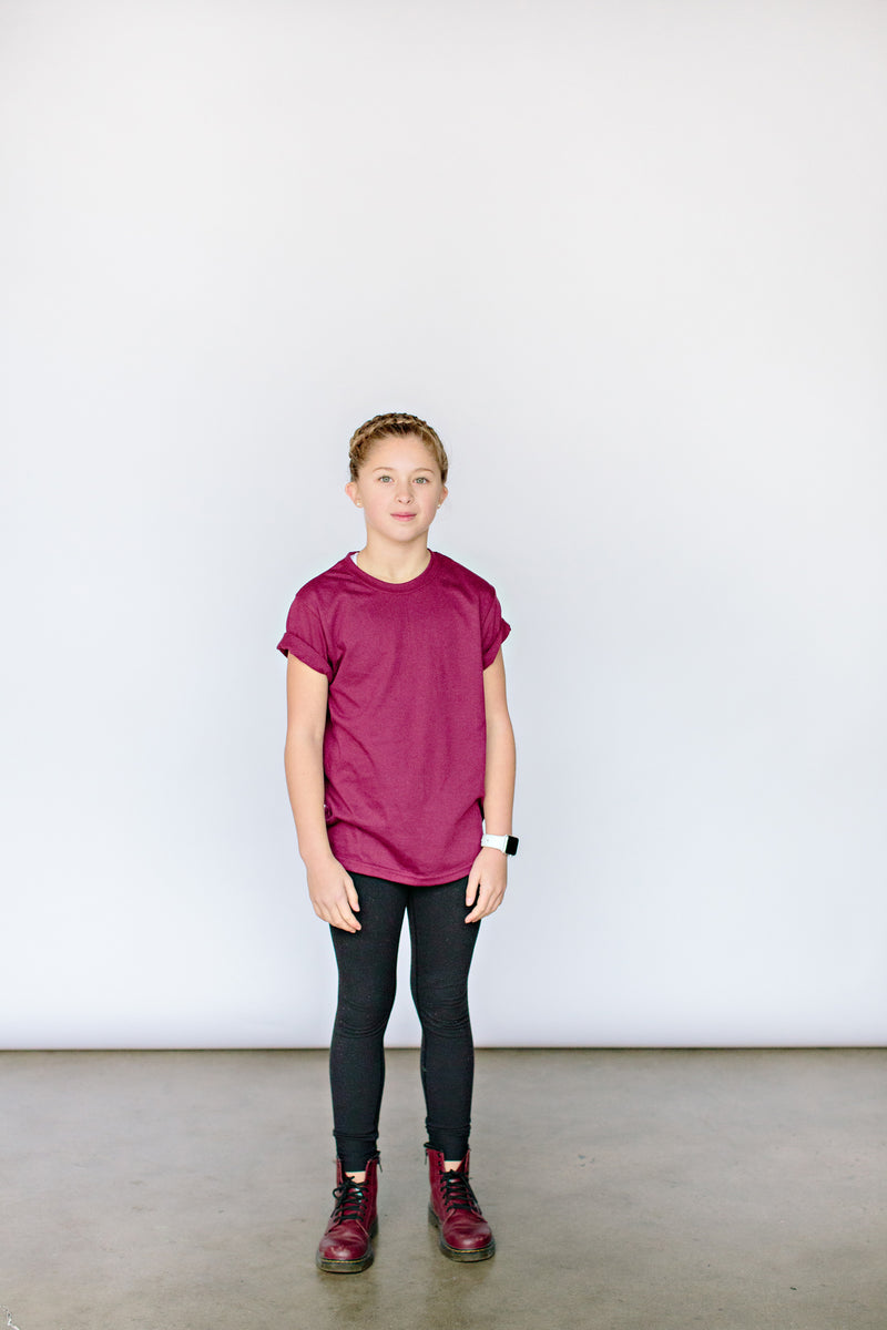 Youth 'Classic' T-Shirt - Maroon