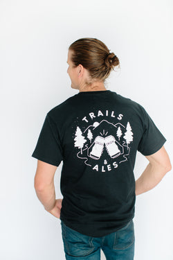 'Trails and Ales' T-Shirt - OKANAGAN LIFESTYLE APPAREL