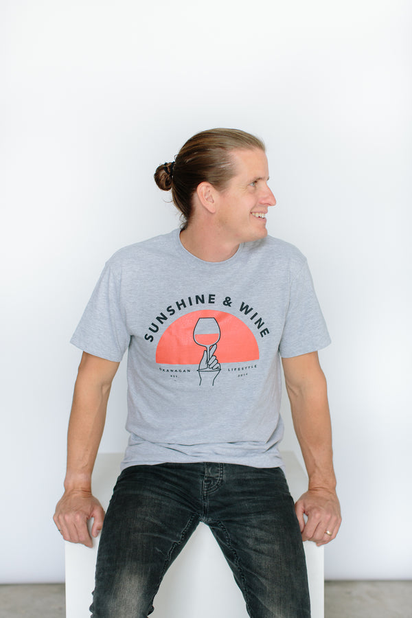'Sunshine and Wine' T-Shirt - OKANAGAN LIFESTYLE APPAREL