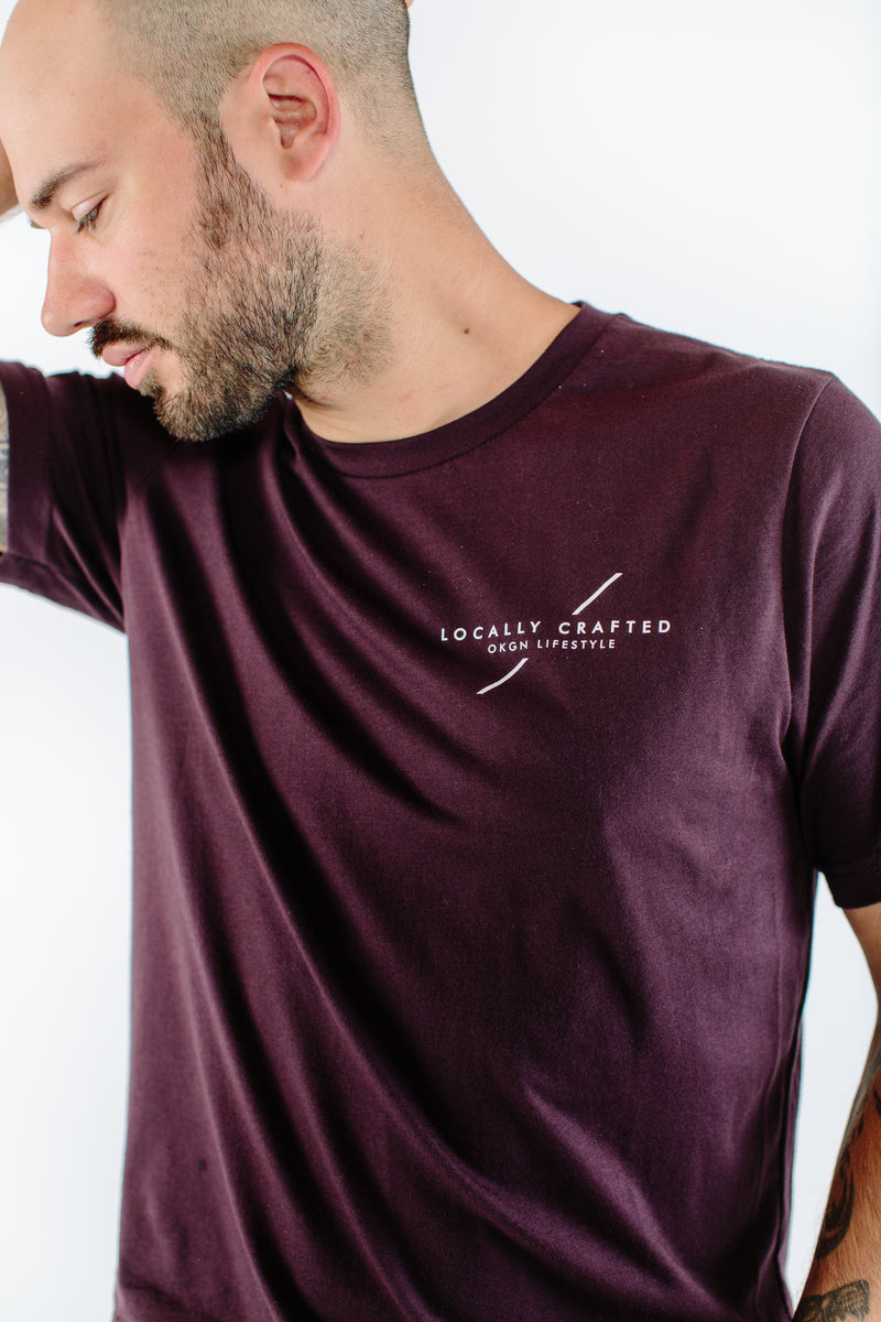 'Locally Crafted' T-Shirt - OKANAGAN LIFESTYLE APPAREL