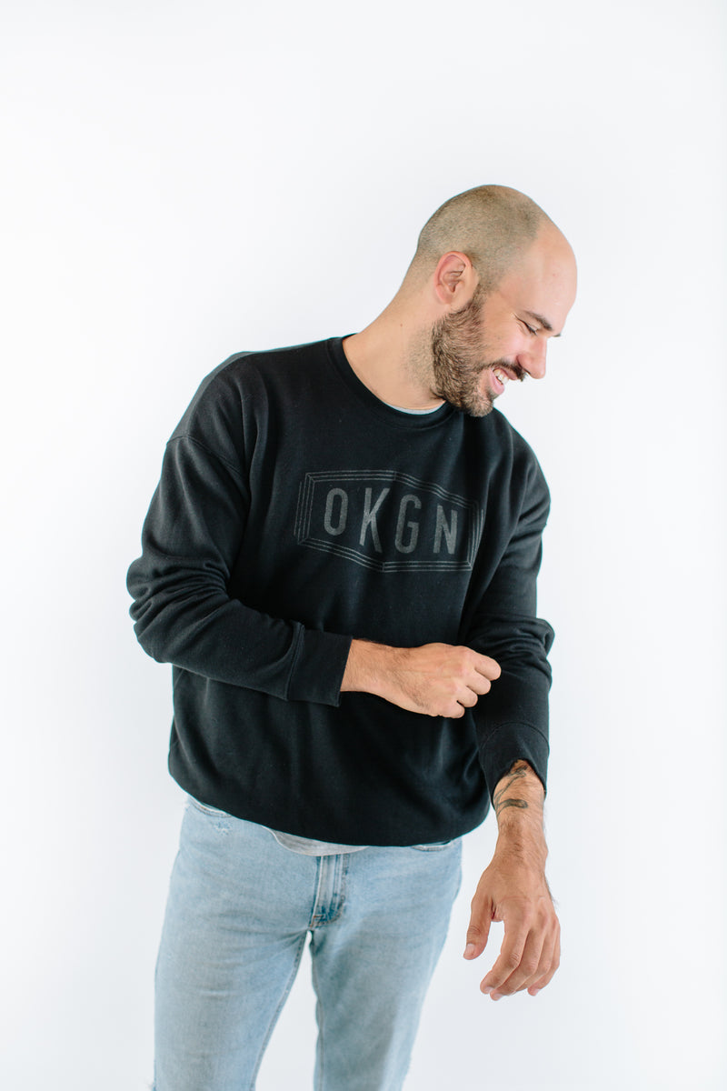 'Blackout' Crewneck - OKANAGAN LIFESTYLE APPAREL