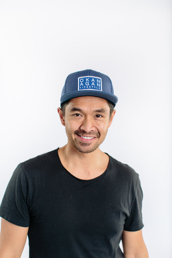 5Y 'Main Street' Navy Snapback - OKANAGAN LIFESTYLE APPAREL