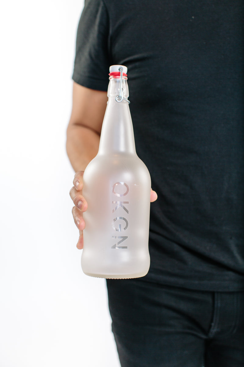 1L OKGN Glass Growler - OKANAGAN LIFESTYLE APPAREL