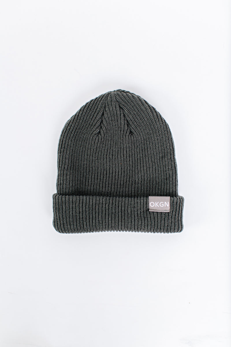 Grey Relaxed Beanie