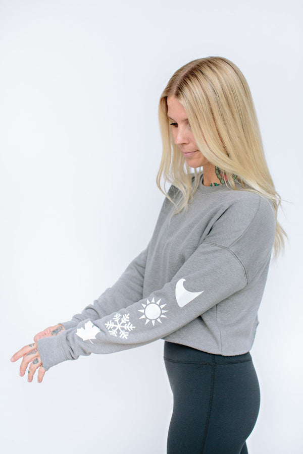 Grey Emma Crop Fleece