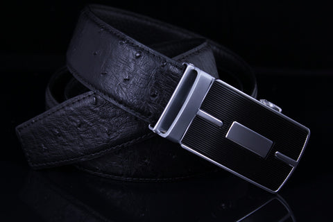 Mooniva Premium Leather Ratchet Belt  - BP001-BLACK