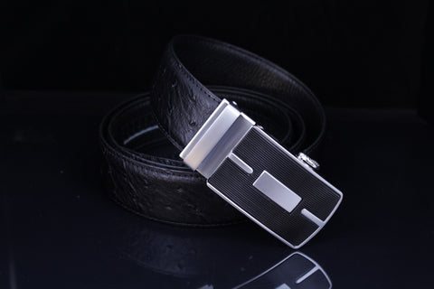 Mooniva Men's Luxury Leather Belt - BBP001-BLACK
