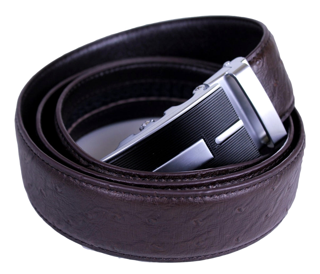 Mooniva Premium Leather Ratchet Belt  - BP001-COFFEE