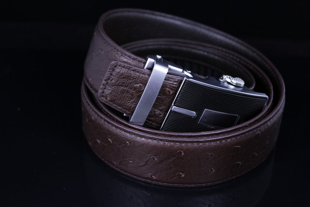 Mooniva Men's Luxury Leather Belt - BBP001-COFFEE