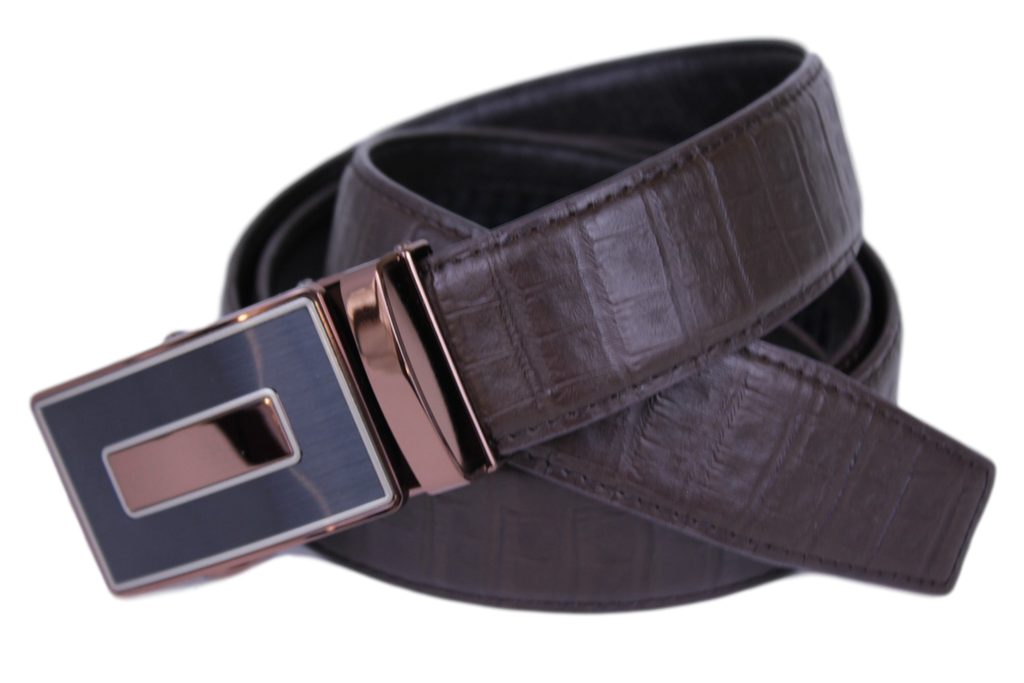Mooniva Premium Leather Ratchet Belt  - BP003-COFFEE