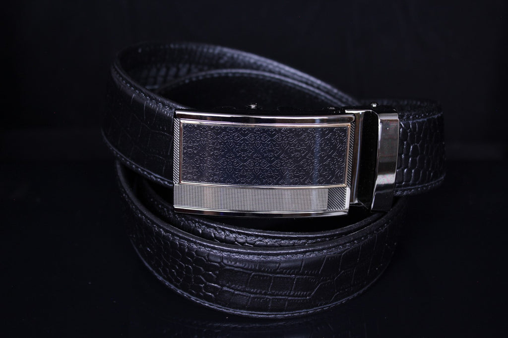 Mooniva Men's Luxury Leather Belt - BBP004-BLACK
