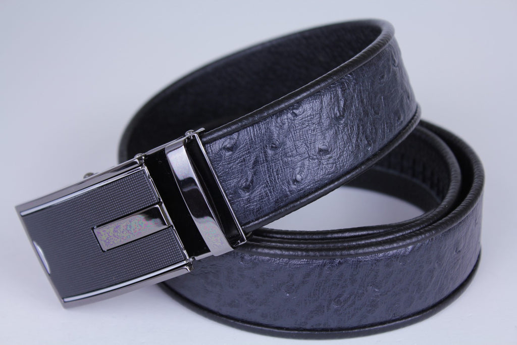 Mooniva Men's Luxury Leather Belt - BBP005-BLACK