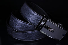 Mooniva Premium Leather Ratchet Belt  - BP005-BLACK