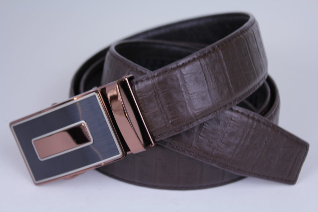 Mooniva Men's Luxury Leather Belt - BBP003-COFFEE