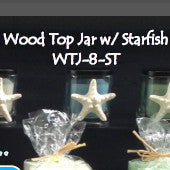Candle-Starfish-Wood top jar