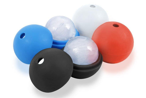 Plastic ice ball molds