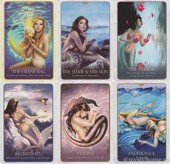 Oracle of the Mermaids by Lucy Cavendish and Selina Fenech. I'm a huge fan  of Fenech's artwork! | Mermaid tarot, Witch tarot, Mermaid art
