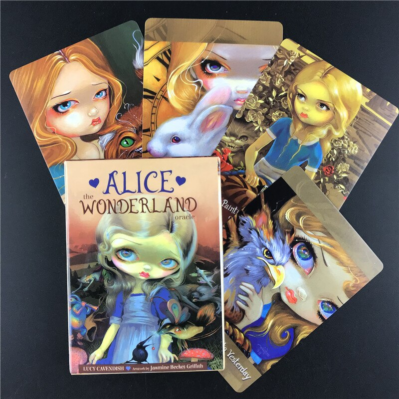 Alice The Wonderland Oracle Guidance Divination Fate Tarot Cards Deck Table  Game Party Playing Card Board Games Entertainment|Card Games| - AliExpress