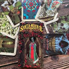 Santa Muerte Tarot Deck Book of the Dead Oracle Cards Game by Fabio  Listrani Day of the Dead Themed Magic|Card Games| - AliExpress