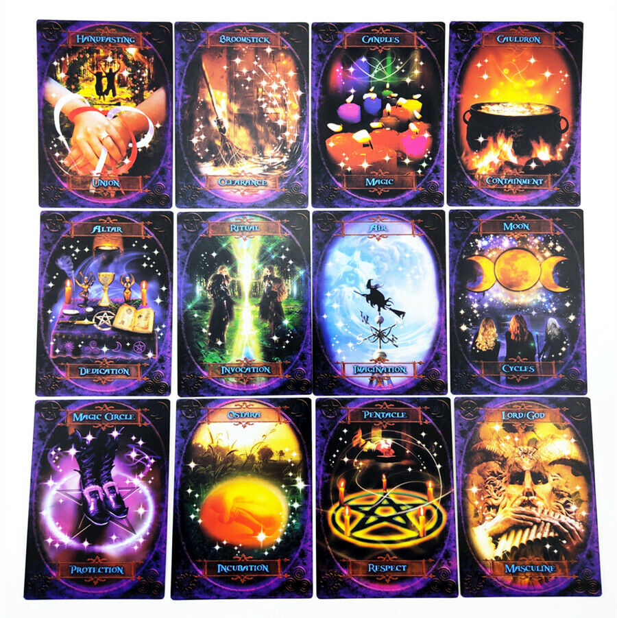 Image 41 - NEW-48-pcs-pack-Witches-Wisdom-Oracle-Tarot-Cards-Guidance-Divination-Fate