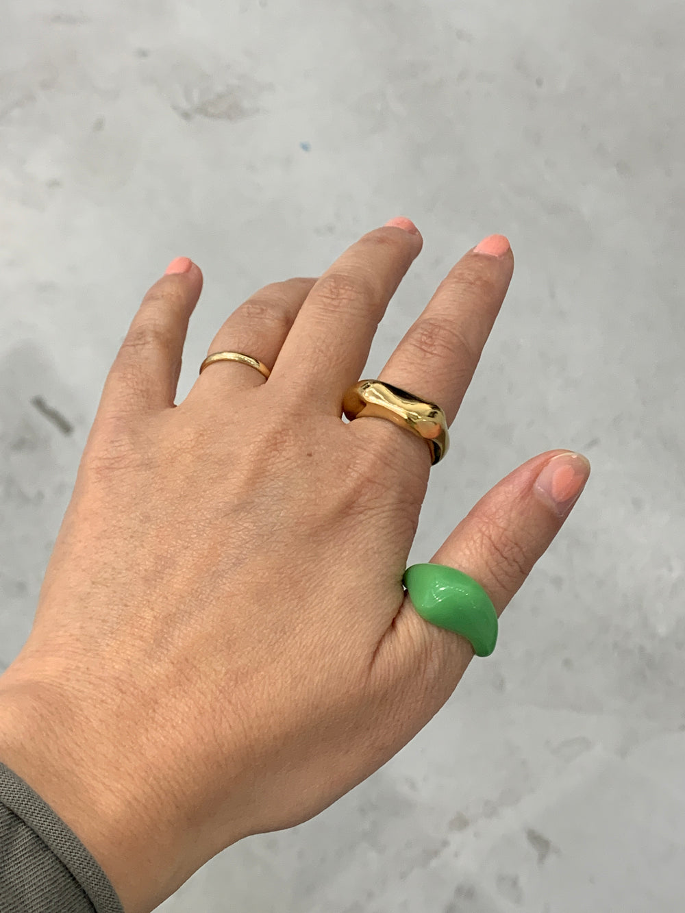 PUNCH Jewelry Thic Stacker Ring