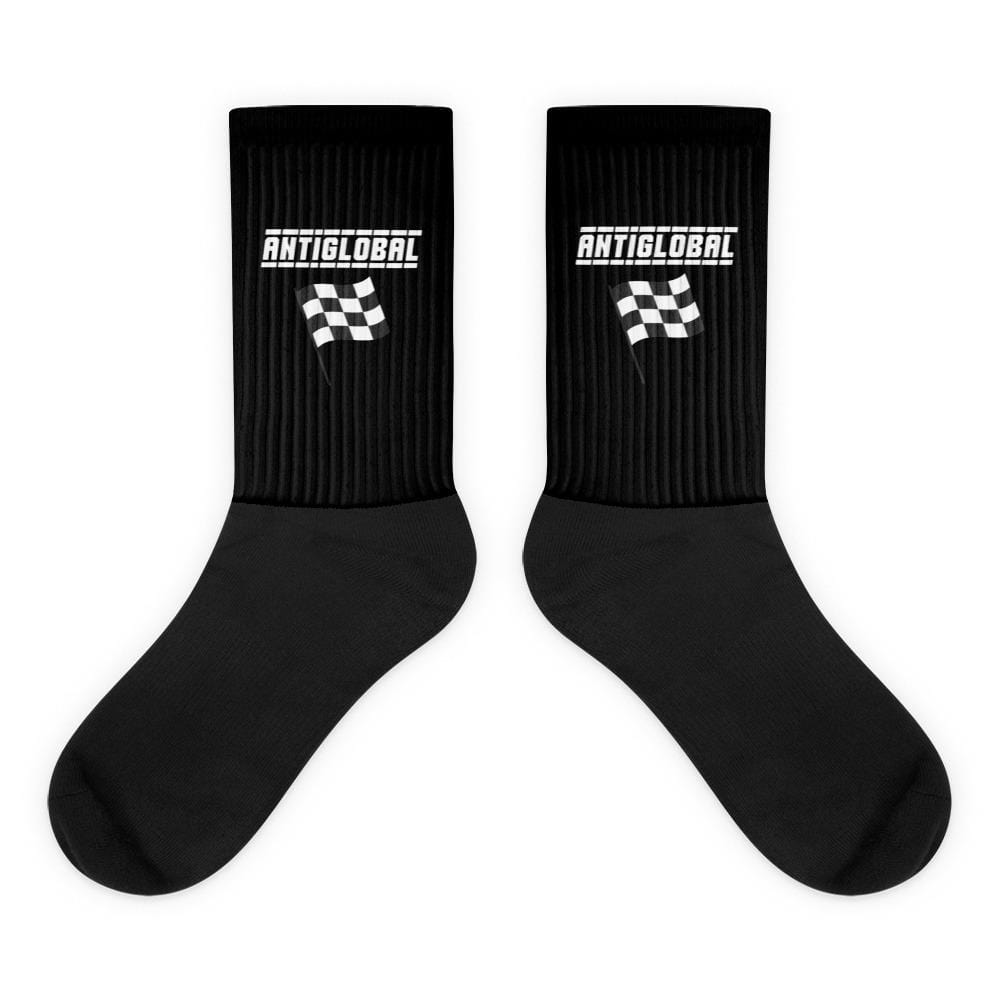 Checkered Flag AntiGlobal Socks