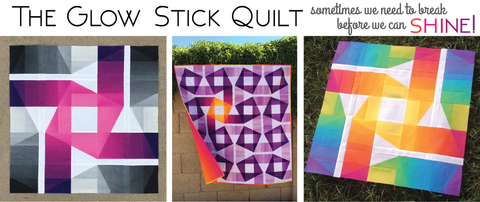 Glow Stick Quilt by Cristy Fincher