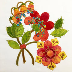 Orange Primrose Applique Pattern