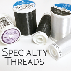 Sulky Invisible thread and Water Soluble thread