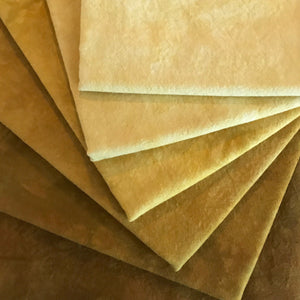 Gold - Textured Hand Dyed Fabric Bundle