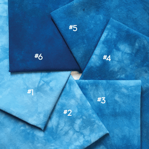 Electric Blue - Textured Hand Dyed Fabric Precuts