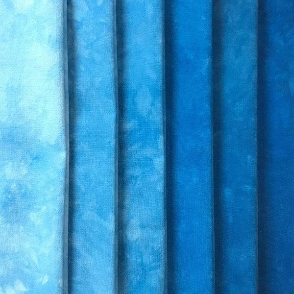 Electric Blue - Solid Hand Dyed Fabric
