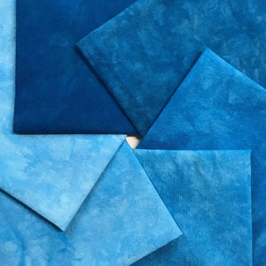 Electric Blue - Solid Hand Dyed Fabric Precuts