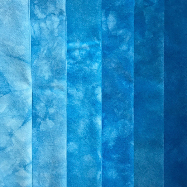 Electric Blue - Textured Hand Dyed Fabric