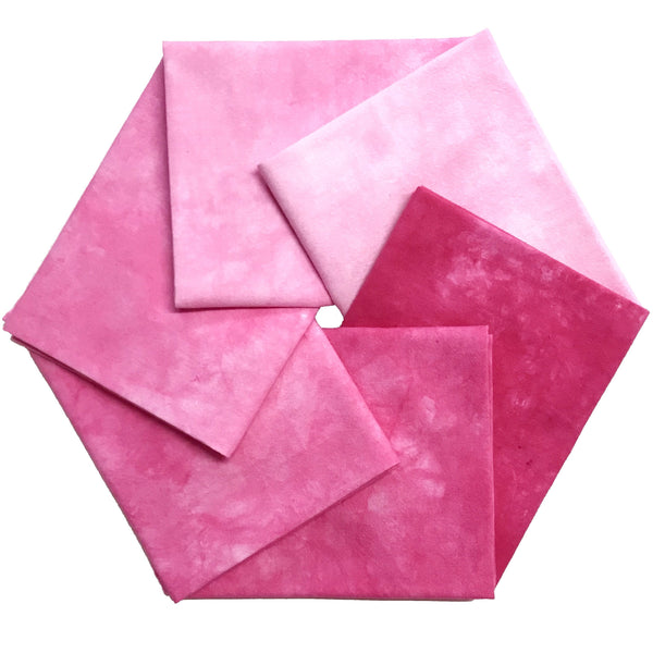 Hot Pink - Textured Hand Dyed Fabric Precuts