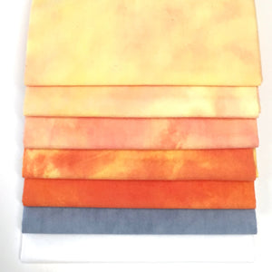 Yellow-Orange - Hand Dyed Fabric Bundle