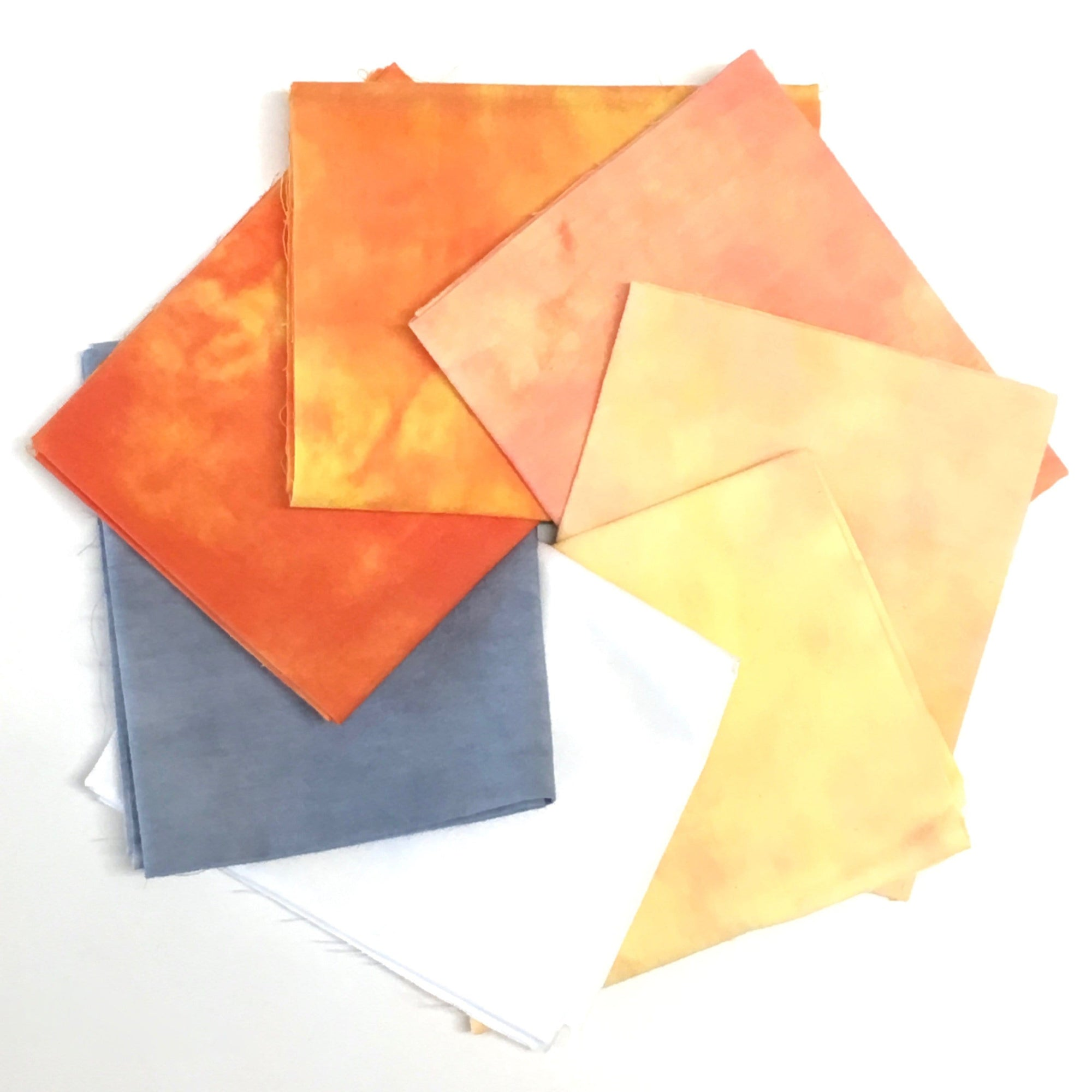 Yellow-Orange - Hand Dyed Fabric Precuts