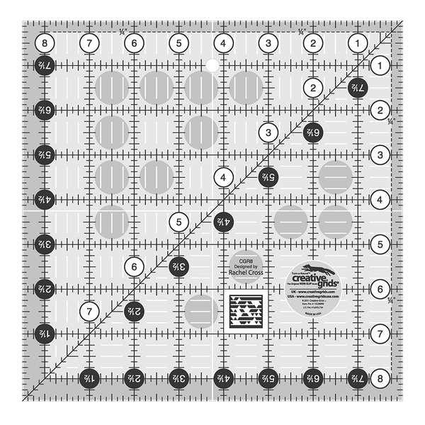 Creative Grids Quilting Ruler 8 1/2in Square