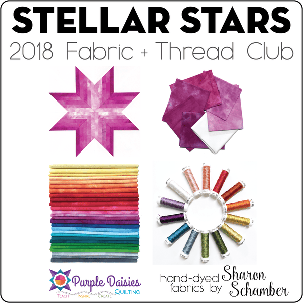 Stellar Stars - 2018 Fabric & Thread - December