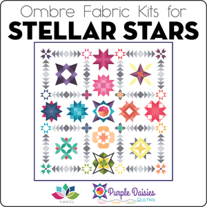 Stellar Stars Pattern + Ombre Fabric Kit