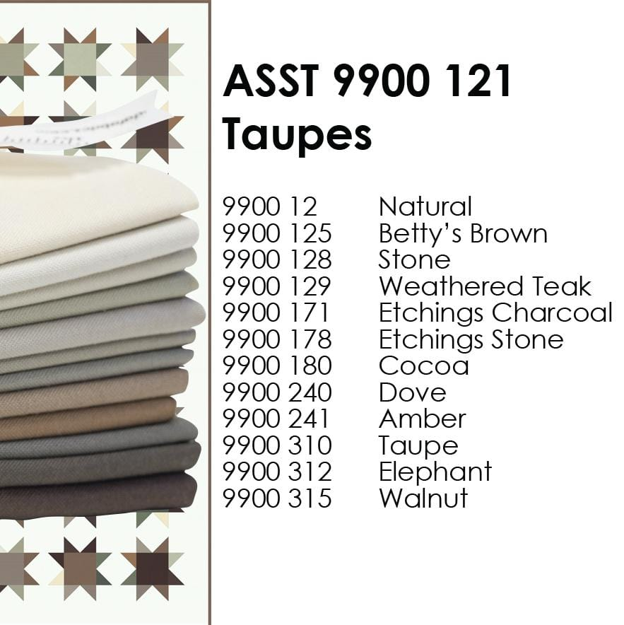 Taupe - Bella Solids Fat Quarter Bundle