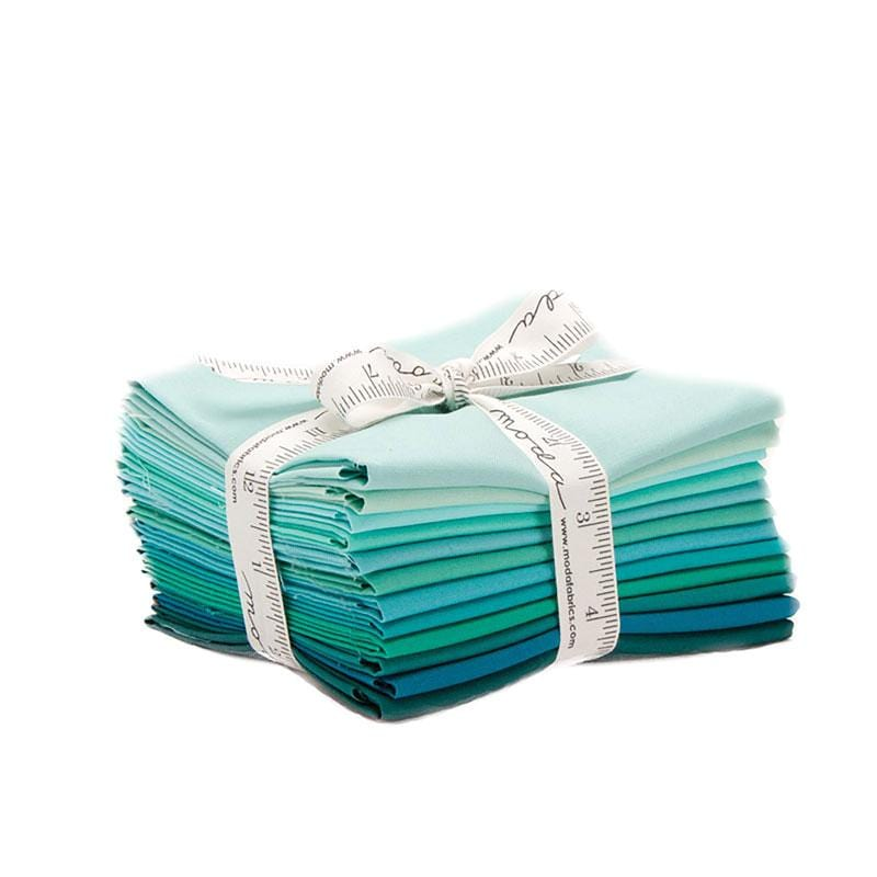 Teal - Bella Solids Fat Quarter Bundle