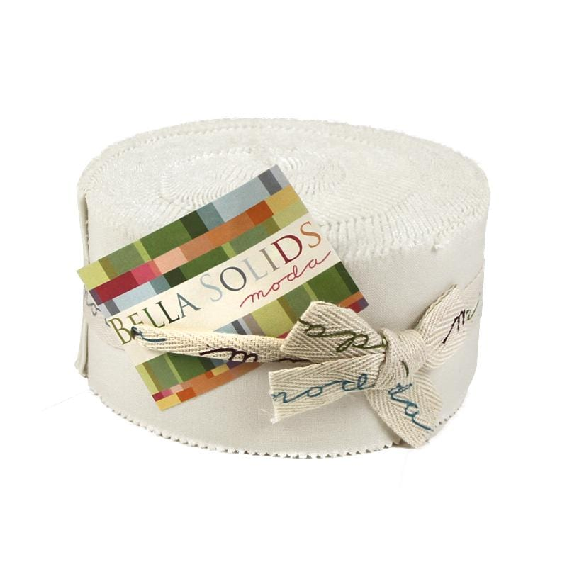 White - Bella Solids Jelly Roll